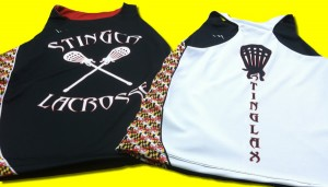 stinger lacrosse pinnies - womens sublimated pinnies