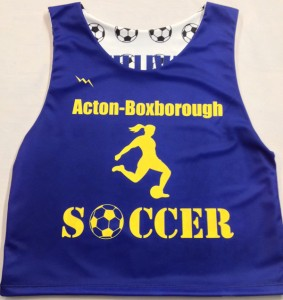 acton boxborough soccer pinnies