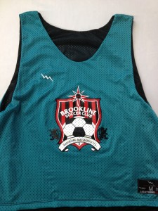 girls brookline soccer pinnies