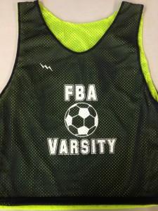 FBA Varsity soccer pinnies