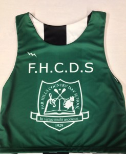 sublimated school pinnies