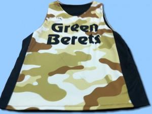 green berets basketball pinnies