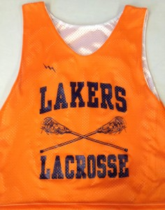lakers lacrosse pinnies