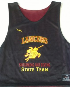 Lancers Swimming and Diving Pinnies