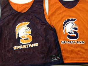 Custom Spartans Lacrosse Pinnies
